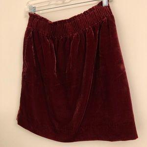 NWT J.Crew Velvet Sidewalk Mini Skirt